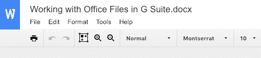 Microsoft Office files in G Suite