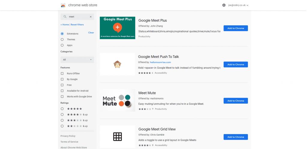 Google Meet Add Ons